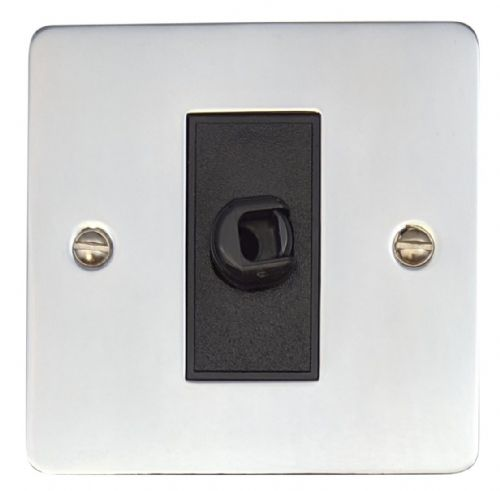 G&H FC79B Flat Plate Polished Chrome 1 Gang Flex Outlet Plate